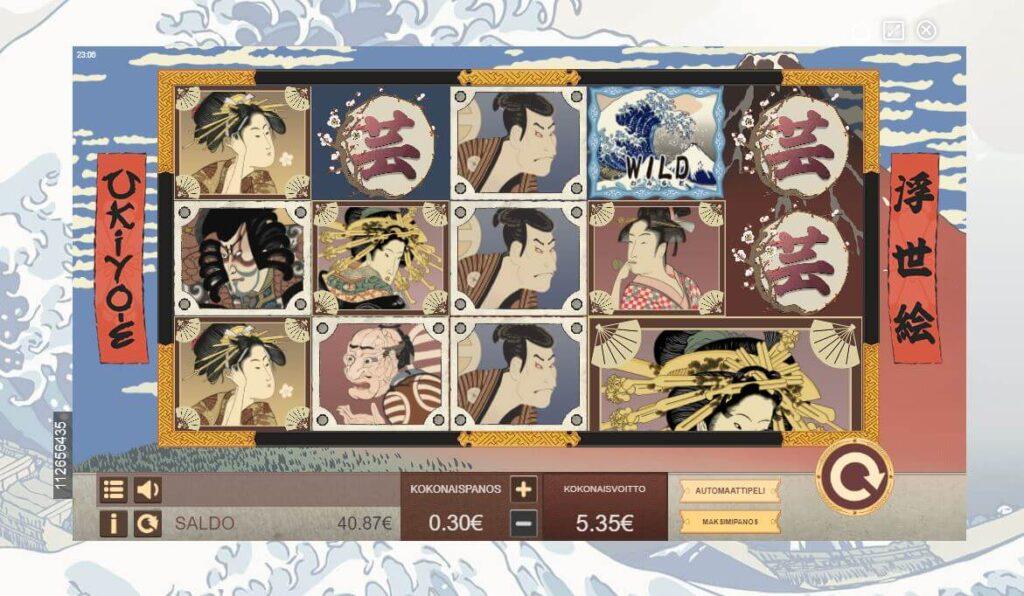 ukiyoe japani piirros