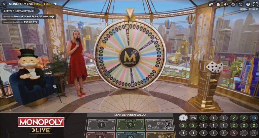 monopoly live casinolla